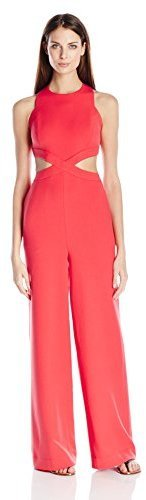 f08f1ce1afee Emjay Woven Sleeveless Jumpsuit. Red Jumpsuit by BCBGMAXAZRIA
