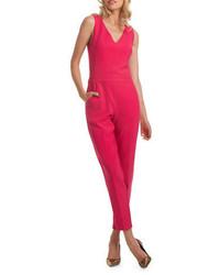 Trina Turk Colette Doubleweave Luxe Slim Fit Cultured Jumpsuit