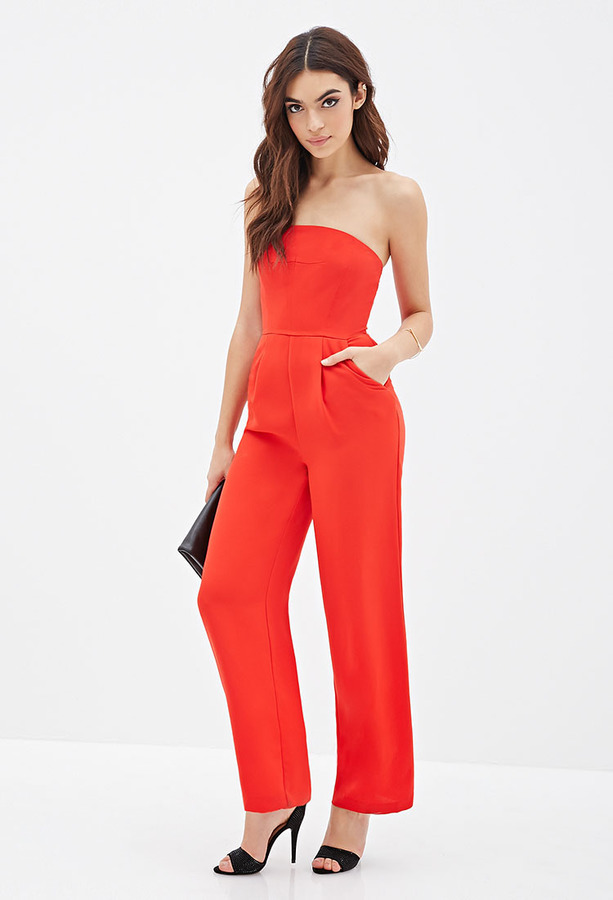 Forever 21 Strapless Wide Leg Jumpsuit | Where to buy & how to wear