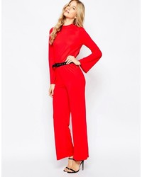Vero Moda High Neck Jumpsuit With Open Back