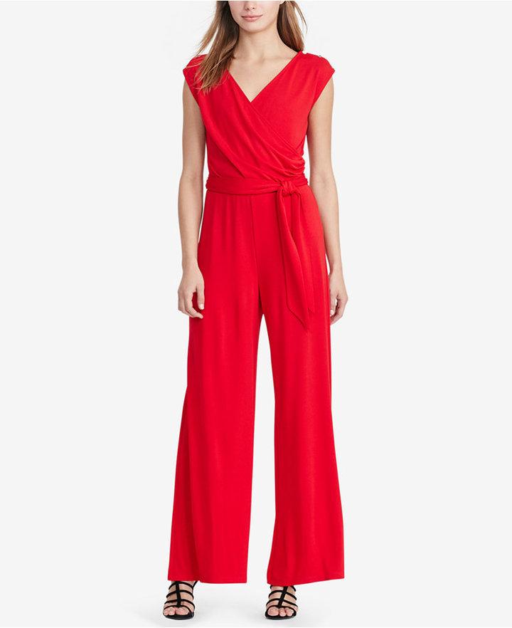 Lauren Ralph Lauren Jersey Wide Leg Jumpsuit Where To Buy How To