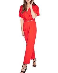 Miss Selfridge Kimono Sleeves Jumpsuit And Belt
