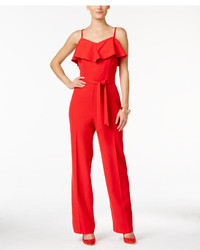 Thalia Sodi Ruffled Belted Jumpsuit Only At Macys