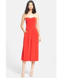 796d570e5643 ... Milly Strapless Silk Culotte Jumpsuit