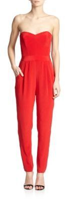 56bae3c825c3 ... Milly Stretch Silk Bustier Jumpsuit ...