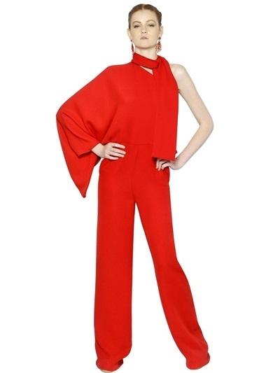 461cc9a6597 ... Valentino Silk Cady One Shoulder Jumpsuit
