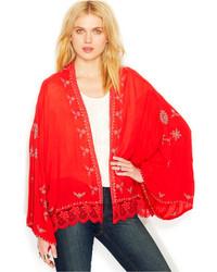 Long sleeve embroidered kimono medium 212802