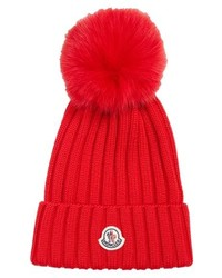 Moncler Genuine Fox Wool Beanie