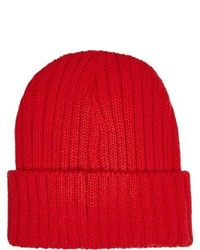 River Island Red Knit Beanie