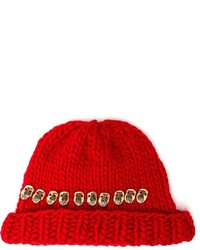Wool And The Gang Knitted Skull Beanie Hat