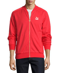 Puma Knit Bomber Jacket Red