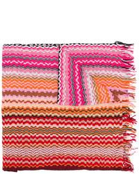 Missoni Zig Zag Crochet Knit Scarf