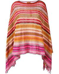 Missoni Zig Zag Crochet Knit Poncho