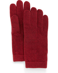 Portolano Cashmere Basic Knit Gloves Ashton Red