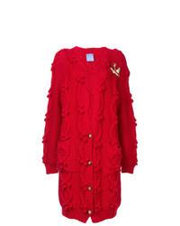 Red Knit Long Cardigan
