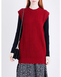 Max Mara Alpe Oversized Wool And Cashmere Blend Top