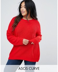 Asos Curve Curve Oversized Chunky Sweater