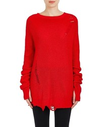 Helmut Lang Distressed Wool Cashmere Sweater