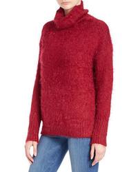 DKNY Jeans Eyelash Knit Turtleneck Sweater