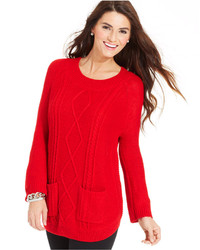 Jpr a cable knit tunic sweater medium 152080