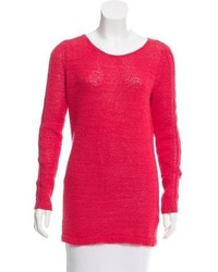 Oversize open knit accented sweater medium 5387655
