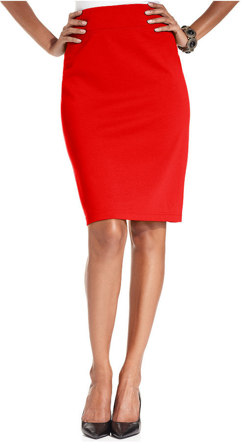 5490c43fef7 Style Co Pull On Ponte Knit Pencil Skirt