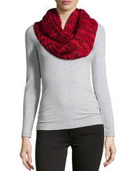 Chunky knit infinity scarf red medium 443121