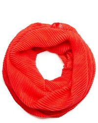 GUESS Red Ribbed Infinity Scarf