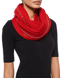 MICHAEL Michael Kors Michl Michl Kors Allover Chain Infinity Scarf Red Blaze