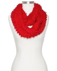Sylvia Alexander Chunky Popcorn Knit Infinity Scarf