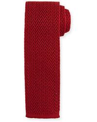 Silk knit flat end tie medium 700018