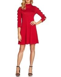 Bow sleeve mock neck sweater dress medium 6793090