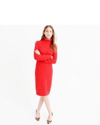 b226e279787 ... J.Crew Cable Turtleneck Sweater Dress