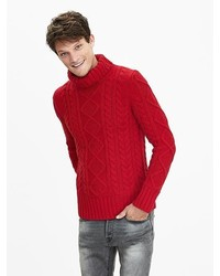 Red Knit Turtleneck