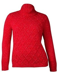 Anne Klein Cable Knit Turtleneck Sweater