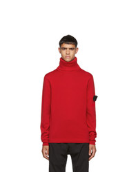 Stone Island Shadow Project Red Knit Turtleneck