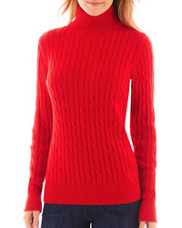 jcpenney St Johns Bay St Johns Bay Long Sleeve Cable Turtleneck Sweater