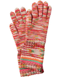 Wool variegated knit gloves with cashmere medium 738878