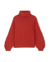 Red Knit Wool Turtleneck