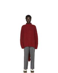 Red Knit Wool Turtleneck