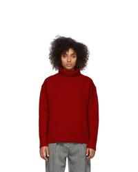 Rag and Bone Red Wool Lunet Turtleneck