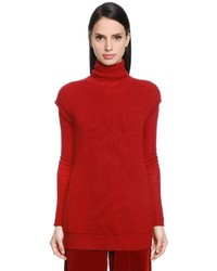 Ribbed wool cashmere knit vest medium 4417958