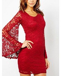 Bell Sleeve Lace Bodycon Dress