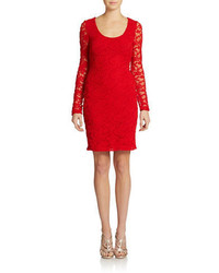 Badgley Mischka Belle By Lace Sheath Dress