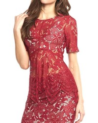 Lace red top medium 419191