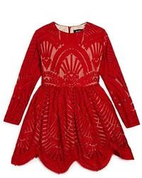 Bardot Junior Girls Embroidered Lace Mesh Dress Little Kid