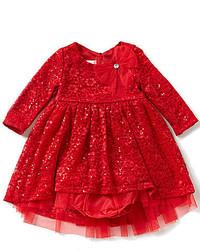 Bonnie Jean Bonnie Baby Girls Newborn 24 Months Embellished Lace Dress