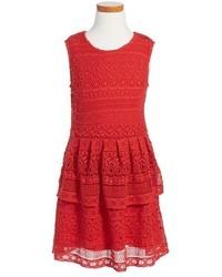Girls Peek Tessa Tiered Lace Dress
