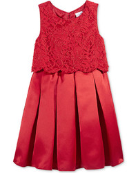 Sweet Heart Rose Lace Popover Special Occasion Dress Little Girls