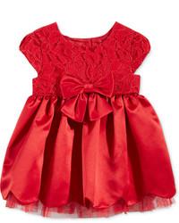 Sweet Heart Rose Lace Scallop Hem Dress Baby Girls